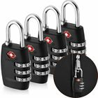 4x TSA Approved Luggage Lock Travel 3 Digit Combination Suitcase Padlock Reset For Sale