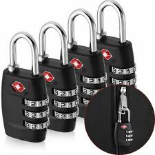 4x TSA Approved Luggage Lock Travel 3 Digit Combination Suitcase Padlock Reset