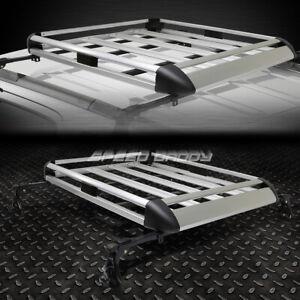 "50""X 38""ALUMINUM ROOF RACK CAR/SUV TOP CARGO LUGGAGE/BAG CARRIER BASKET+CROSSBAR"
