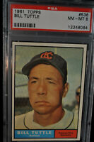 1961 Topps - Bill Tuttle - #536 - PSA 8 - NM-MT