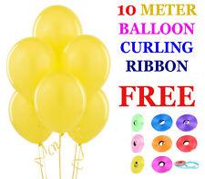 "10"" X 100 TINTA UNITA PALLONCINI elio Matrimonio Compleanno Christenig Baloon"