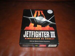 JEU PC JETFIGHTER III SIMULATEUR DE COMBAT - BIG BOX GROSSE BOITE CARTON