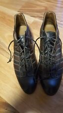 Vittorio Piani Leather Lace Up Victorian  women's shoe sz EUR 38.5 US 7 Vibram