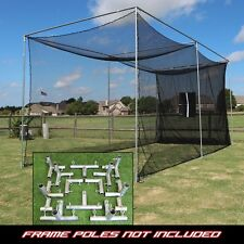 Golf Cage Practice Net 20' x 10' x 10' (#252 Poly) Frame Kit & Baffle Included
