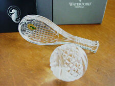Waterford TENNIS RACQUET RACKET & BALL Paperweight Sculpture Wimbledon- NEW/BOX!