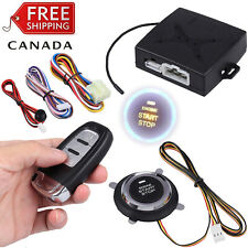 Keyless Entry Car Alarm System Remote Start & Push Button Start Engine Kit Set