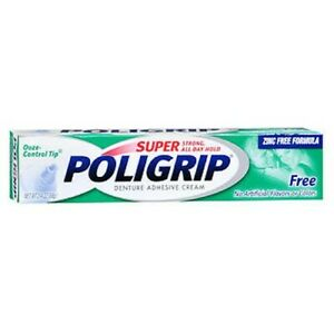 Super Poligrip Denture Adhesive Cream Artificial Flavor