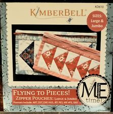 Kimberbell CD Flying To Pieces! Zipper Pouch LG & JMB  KD610 Machine Embroidery
