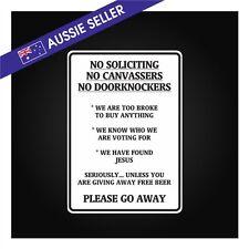 NO DOORKNOCKERS Sticker Decal Funny Front Door House Glass Timber