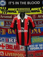 5/5 AC Milan boys 11/12 years 152cm MINT football shirt jersey trikot soccer .