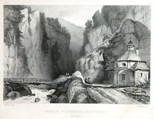 "Lithographie - Godefroy ENGELMANN, ""Défilé du Stretto Stalvedro"