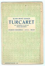 LESAGE ALAIN-RENE' TURCARET SIGNORELLI 1933 SCRITTORI FRANCESI 102