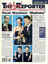 "2001 Rare Hollywood Reporter ""Gladiator"" Wins Oscars Issue"