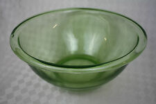 "Original Vintage Hocking Glass Co Vintage Green Uranium 11"" Wide Bowl"