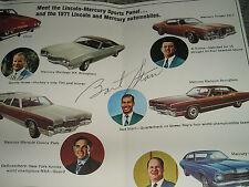 Jesse Owens-Bart Starr-Sharon Moran-Byron Nelson Autograph-1971 Auto Show