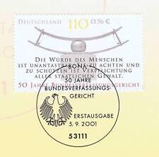 BRD 2001: Bundesverfassungsgericht Nr. 2214 mit dem Bonner Sonderstempel! 1A!