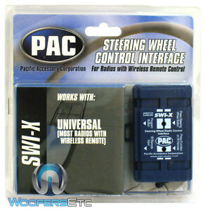 SWI-X PAC CAR AUDIO STEERING WHEEL CONTROL INTERFACE UNIVERSAL STEREO NEW SWIX