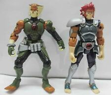 #T443~ LOT OF 2 Thundercats LION-O TYGRA Bandai ACTION Figure  LOOSE B