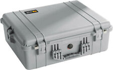 Silver Gray Pelican 1600 1604 case + padded dividers + Free Engraved Nameplate