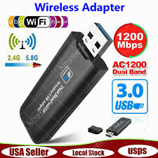 1200Mbps USB 3.0 Wireless Ethernet WiFi Adapter Lan 802.11 Dual Band 2.4G/5.8G