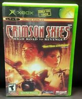 Crimson Skies Revenge - Microsoft Xbox OG Rare Game Complete Working Tested