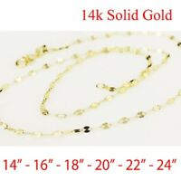 """solid 14k Yellow  gold Fancy  necklace chain 14"""" 16"""" 18"""" 20"""" 22"""" 24"""" US Seller"""