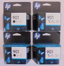 HP 901 Tintenpatronen 2 x CC653AE und 2 x CC656AE f. Officejet J4524 MHD 01-2017