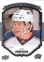 15/16 UPPER DECK PORTRAITS ROOKIE RC #P-87 JOSH ANDERSON BLUE JACKETS *15608