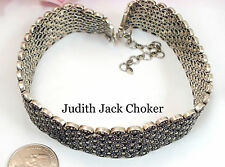 Vintage Fine Jewelry  JUDITH JACK Marcasite Sterling Silver Necklace Choker