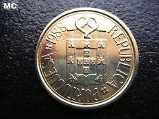 1988 escudo de armas y Lazo portuguesa 5 escudos en muy buen grado