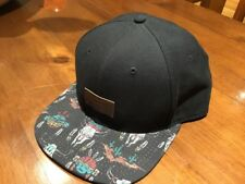 Vans Black Hat, Baseball Style With SnapBack And American Indian Brim