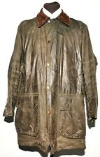 GREAT MEN'S BARBOUR BORDER WAX JACKET C42 / 107CM GREEN A330