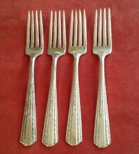 """International Silver Hollywood 4 silver plated forks 7"""" polished"""
