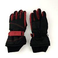 Boy's Kids Child's Ski Snow Winter Gloves 40 gm Thinsulate Red Black size 4-7