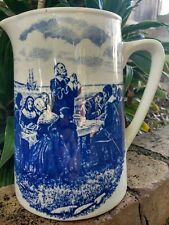 Weatherby Hanley England Falcon Ware Pitcher Pilgrims Thanksgiving