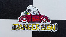 ¡Badass Snoopy! sticker by ¡DANGER SIGN! hot rod VW custom dub snoopy bug