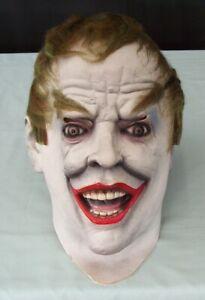 Vintage The Joker Costume Latex Mask  c1989  Batman DC Comics