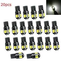 20pcs Canbus T10 194 168 W5W 5730 8 LED SMD White Car Side Wedge Light Bulb Lamp