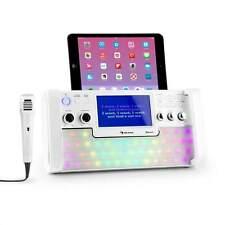 KARAOKE MUSIK KOMPAKT ANLAGE SYSTEM BLUETOOTH MP3 CD PLAYER USB BOXEN MIKROFON