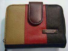Lorenz Multi-coloured Leather 3 Section Purse