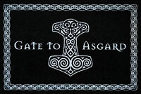 Wikinger - Gate to Asgard - Schwarz Fußmatte - Größe: 60x40 cm