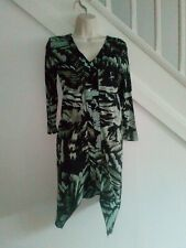 Next dress size 8- Black and green.