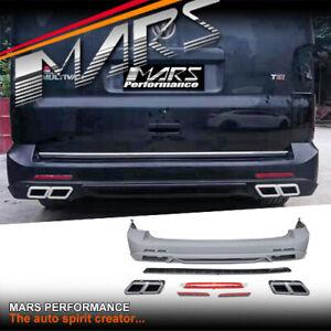 MARS Rear Bumper Bar & Exhaust Tips for Volkswagen VW Transporter & Multivan T5