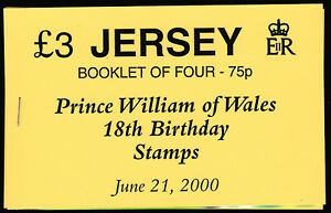 JERSEY - 2000 UNISSUED £3 BOOKLET - PRINCE OF WALES 18th BIRTHDAY - RARITY
