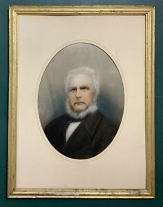 Large Original Antique 19th Century Victorian Painting Of A Gentleman
