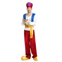 New Style Men's Aladdin Dress Up Arab Costume Cosplay Halloween Party Outfit