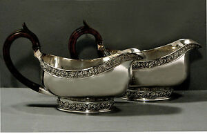 Chinese Export Silver Gravy Boats      c1820 WE/W/WC - Museum