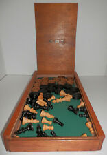 !Collection Sell-out! Vintage Wooden Staunton Chess Set Draughts C.M.T.