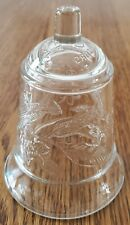 Homco clear glass peg votive sconce candle holder flowers, leaves 4-3/4""