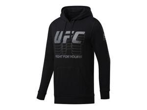 UFC Reebok Hoody Fg Pullover Black (small)